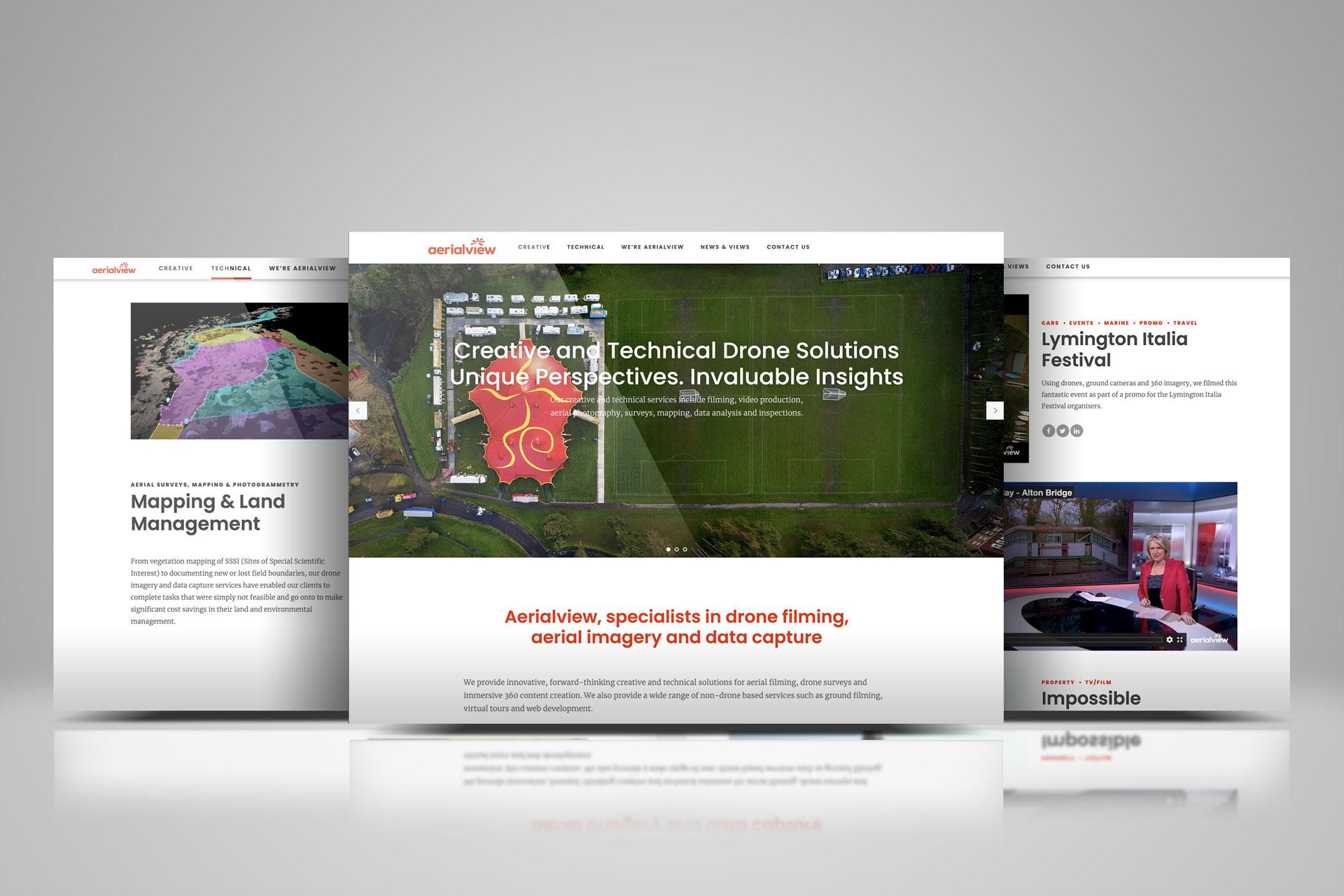 New Aerialview website images