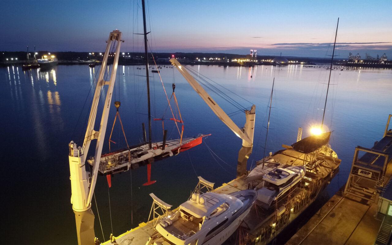 Loading Yachts at Southampton Docks